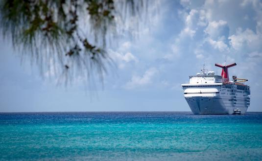 Carnival cruise ship in the Caribbean.