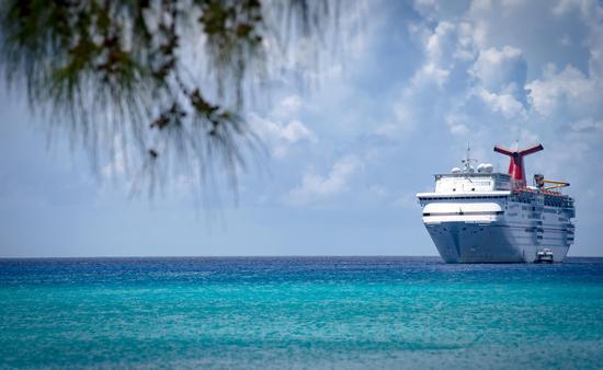 Carnival cruise ship in the Bahamas