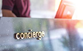 Concierge service desk at a hotel