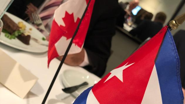 Canadian and Cuba Flags