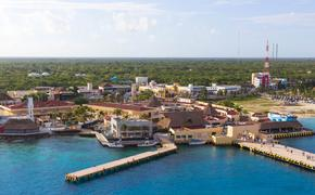 Port in Cozumel, Mexico.