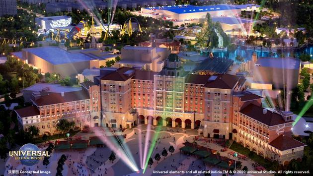 Universal Beijing Resort's Grand Hotel.