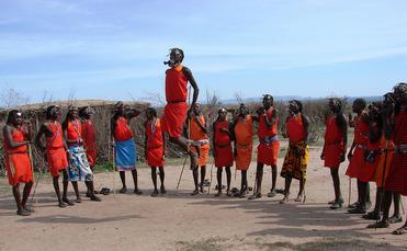A group of Maasai Mara in Kenya
