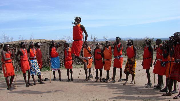 A group of Maasai Mara in Kenya