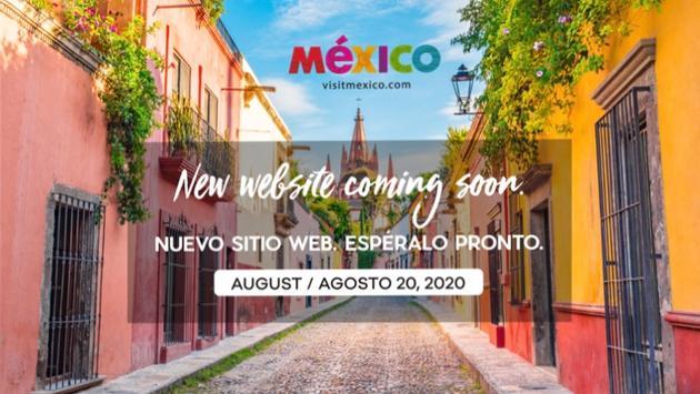 La portada de la plataforma VisitMexico