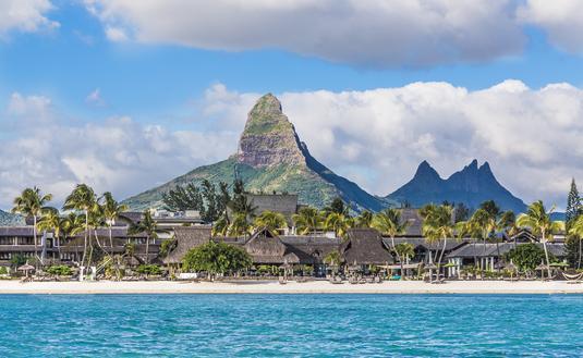 Flic En Flac Beach,Piton de la Petite Riviere Noire, Mauritius