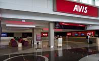 car rental, avis, counter, airport