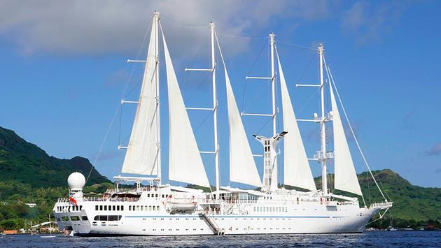 Windstar Cruises' Wind Spirit in Bora Bora