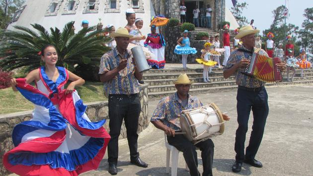 Musicians and dancers in Puerto Plata, Dominican Republic