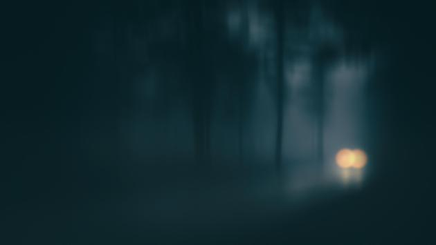 Foggy road, car, spooky, haunted, creepy, scary
