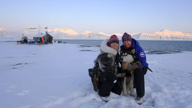 The godmothers of battery hybrid-powered MS Fridtjof Nansen are the first women team to ever overwinter in remote Arctic Svalbard.