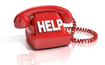 Red help phone