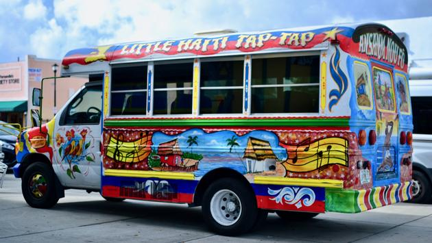 Tap-Tap Bus in Little Haiti, Miami