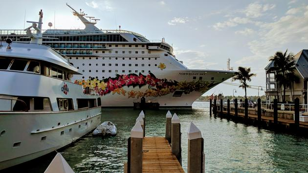 Norwegian Sky docked in Key West, FL