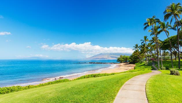A tropical beach in Wailea, Hawaii