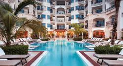 Quiet Pool at Hilton Playa del Carmen.