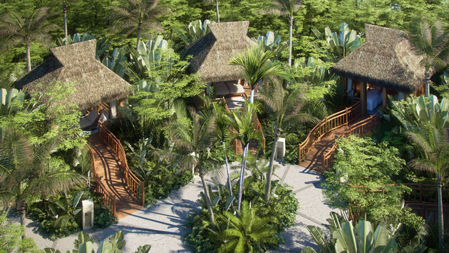 VIP cabanas at Jungala