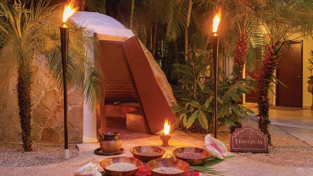 Temezcal traditional Mesoamerican steam bath at Hilton Playa del Carmen's SPAzul.