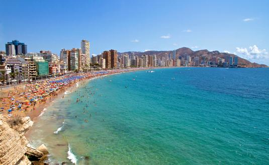 Benidorm, Spain Levante Beach