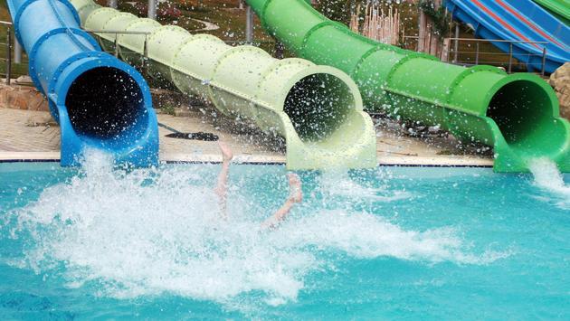 slide in water park