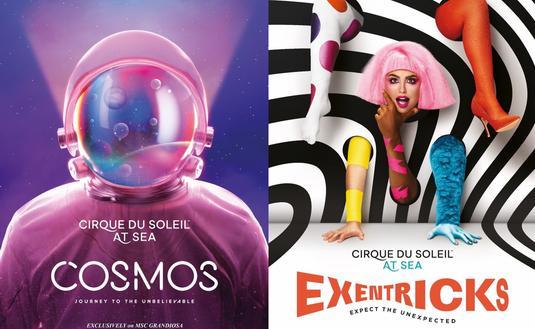MSC Grandiosa's new Cirque du Soleil at Sea shows, Cosmos and Exentricks.