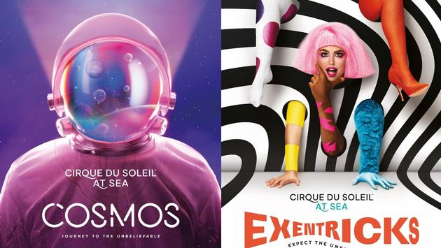 MSC Grandiosa's new Cirque du Soleil at Sea shows, Cosmos and Exentricks.