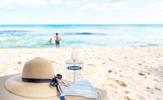 A beach vacation, COVID-style.