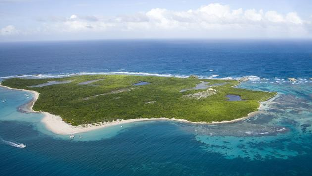 Aerial view of Icacos Island Puerto Rico