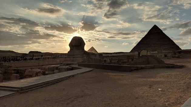 The Sphinx and Pyramids in Egypt