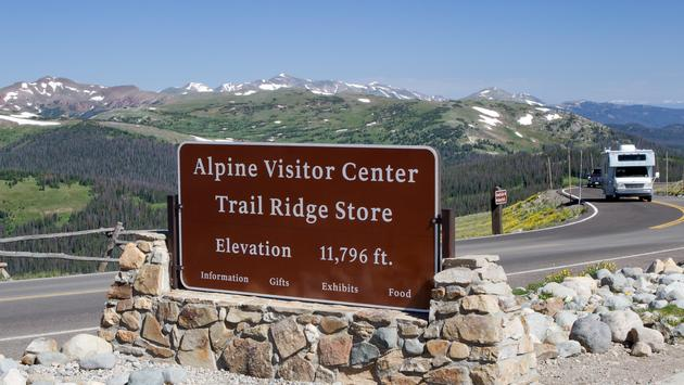 Alpine Visitor Center along Trail Ridge Road in Rocky Mountain National Park