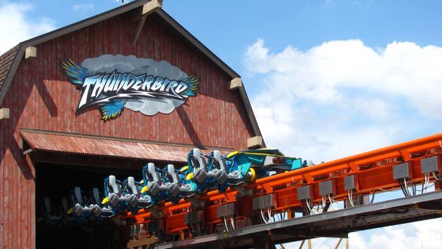 Thunderbird, roller coaster, Holiday World, theme park