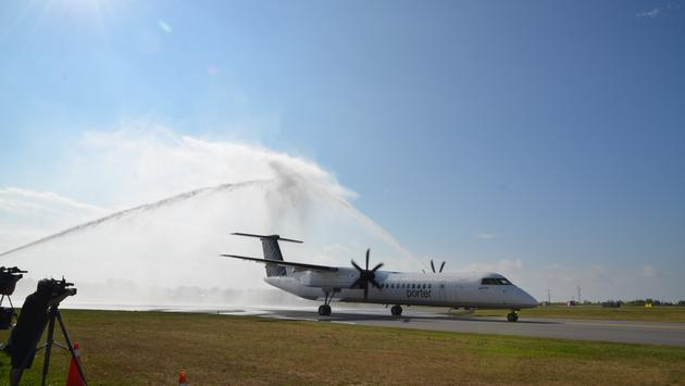 Porter Airlines Water Cannon at Billy Bishop Toronto City Airport