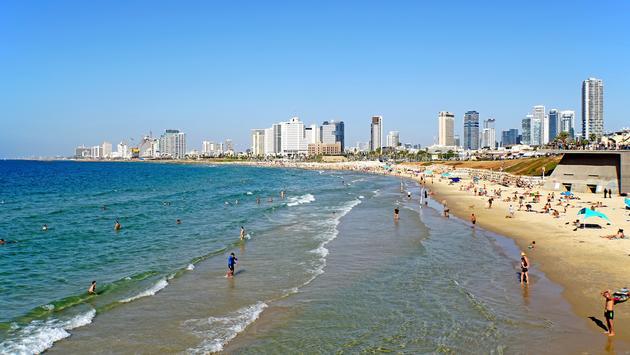 Shoreline in Tel Aviv, Israel
