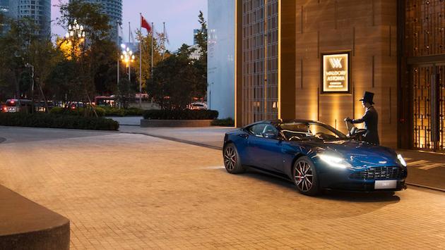 Aston Martin Lagonda and Waldorf Astoria Hotels & Resorts partnership