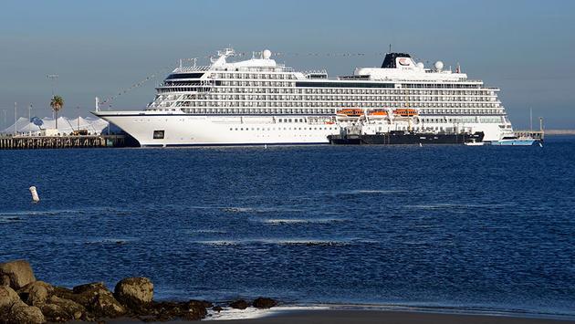 Viking Cruises' Viking Sun makes its inaugural call on Los Angeles, California