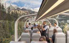 Rocky, Mountaineer, train