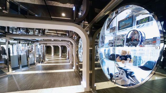 Retail corridor aboard MSC Cruises' MSC Seaside