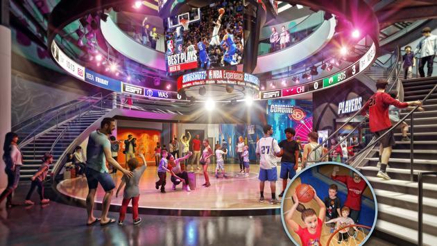 NBA Experience at Disney Springs rendering