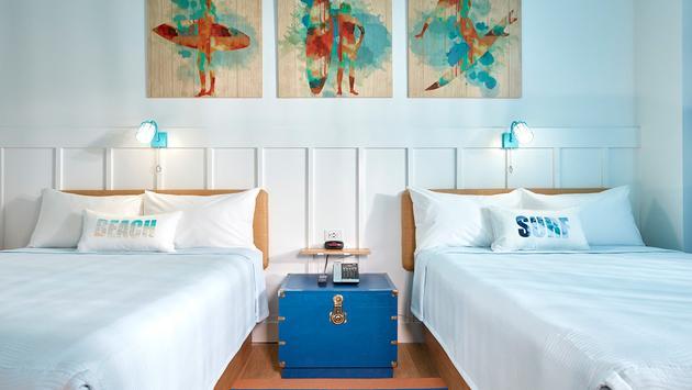 Une aperçu des nouvelles chambres de l'hôtel Surfside Inn and Suites.