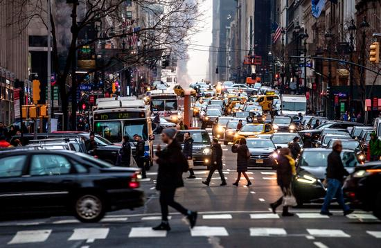 Holiday season traffic in New York City