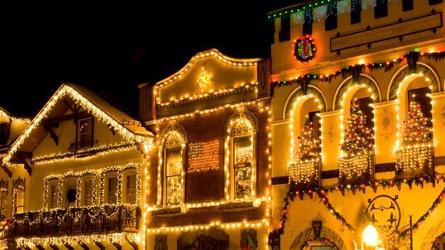 Christmas lights in Leavenworth, Washington