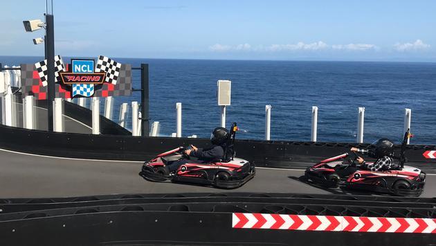 Norwegian Bliss Race Cars, TravelBrands SeaU Cruise