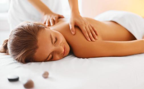 A woman enjoying a relaxing massage