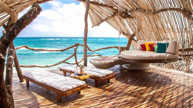 Gorgeous views from the Azulik Hotel in Tulum, Riviera Maya.