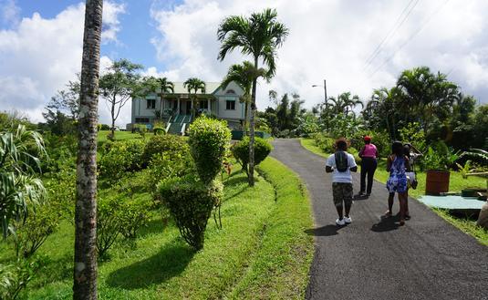 Near Crater Lake in Grenada