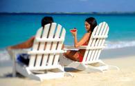 Couple on Beach in Nassau, the Bahamas