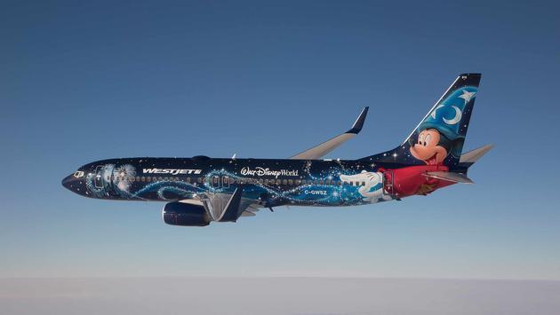 Avion magique Boeing 737 de nouvelle génération de WestJet