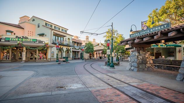 Disneyland's Buena Vista Street.