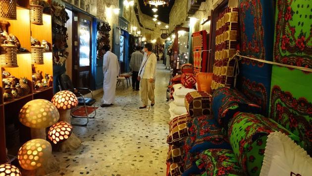 A scene from Doha, Qatar's Souq Waqif