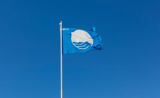 Blue, flag, beach